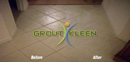 Our color restoration sealer can change grout color