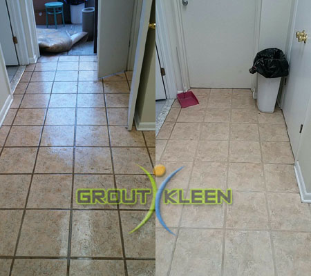 Hair Plus grout cleaning
