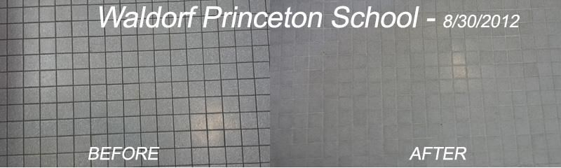Commercial grout restoration